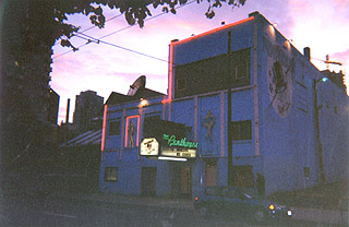 The penthouse -- at dusk, 1019 seymour street. photo: andy sorfleet, summer, 1999.