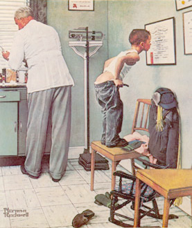 Before the Shot, Norman Rockwell